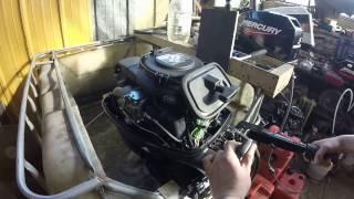 Причина непонятной громкой работы лодочного мотора Mercury 15