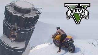 GTA 5 - Vol en moto sous la neige et découverte