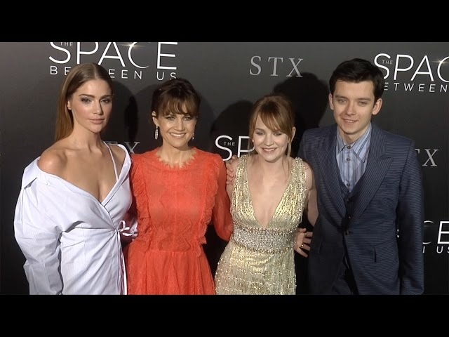 The Space Between Us Premiere Britt Robertson, Asa Butterfield, Carla Gugino, Janet Montgomery