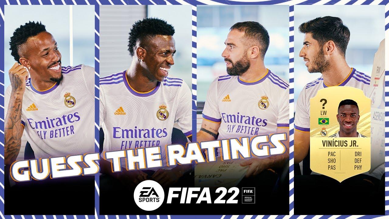 Vini Jr., Carvajal, Asensio & Militão guess FIFA 22 RATINGS! | Real Madrid