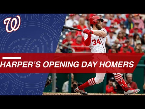 Bryce Harper LAUNCHES homers on Opening Day (2013-2017)
