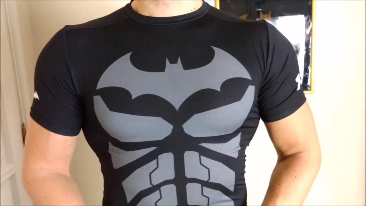 Vellidte Batman Under Armour compression shirt | Alter Ego grey/black BI-25