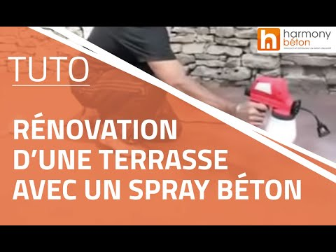r novation d 39 une terrasse avec un spray b ton youtube. Black Bedroom Furniture Sets. Home Design Ideas