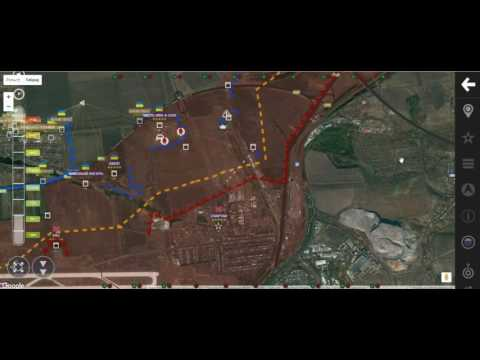 Обзор карты боевых действий на Донбассе от 29 января 2017 г