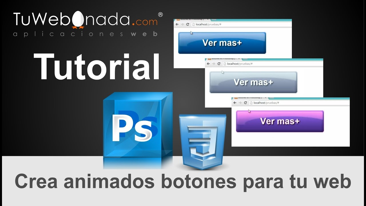 Como crear botones en photoshop y css para web youtube Crear website