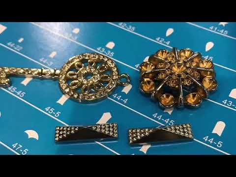 Leather shoe belt garment key chain blue bonding diamond machine