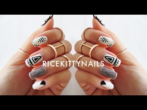 geometric nail art tutorial youtube geometric nail art tutorial prinsesfo Images