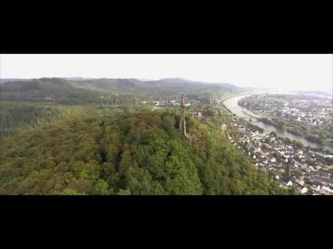 Drone footage of ancient city Trier in Germany