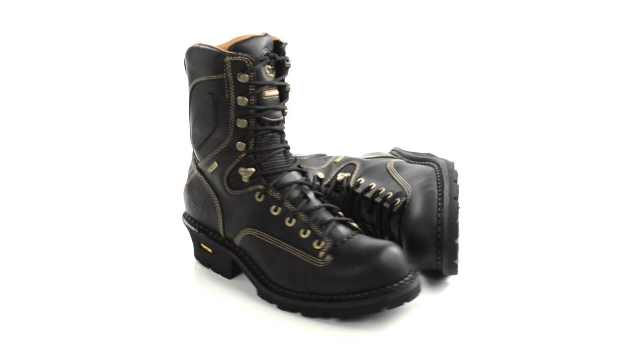 Georgia Men/'s GORE-TEX Insulated Low-Heel Logger Work Boot Black G8040