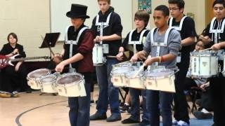 tom ford thomas heck middle school drum line at dse