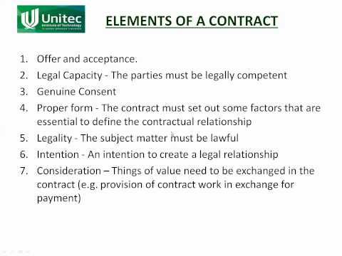 contract elements