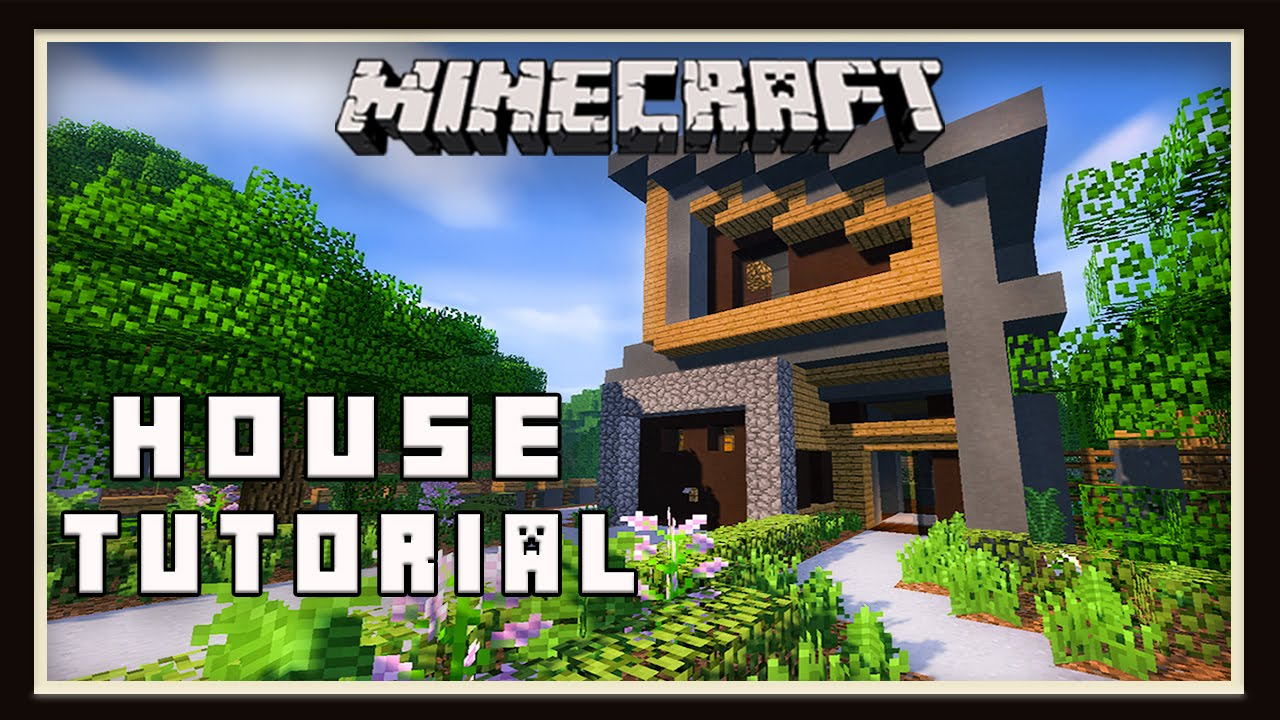 Minecraft Modern House Build Part 5 Landscaping Tutorial YouTube