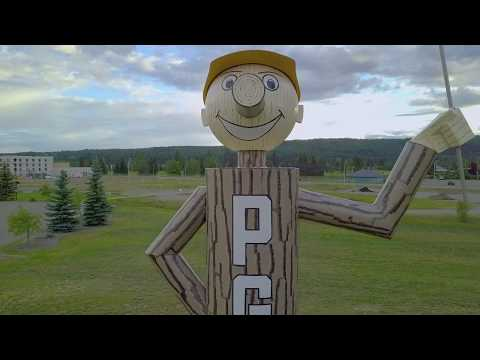 Mr. PG , Prince George, BC, Canada, July 2018 [Aerial Drone 4k]