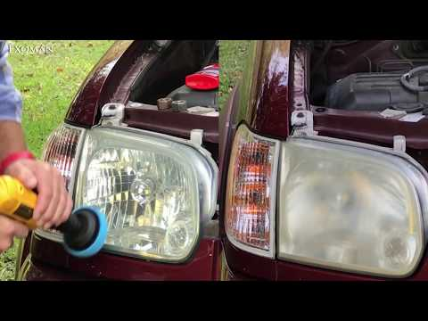 Restore headlights with toothpaste or polish in ONE MINUTE!