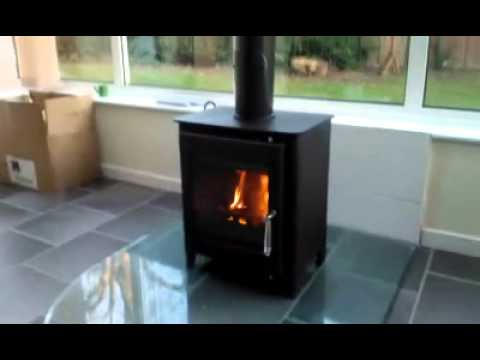 New Log Burner Stove In Conservatory Youtube
