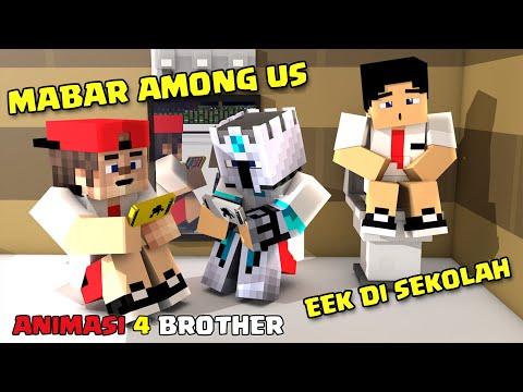 Sketsa Lucu! Mabar Among Us Dan Bambang Eek Di Sekolah - Animasi Lucu 4 Brother Agus Ampoleng