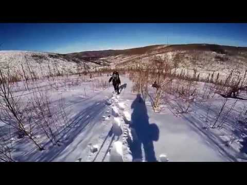 Winter Snowshoeing Granite Tors Chena River State Recreation Area Alaska
