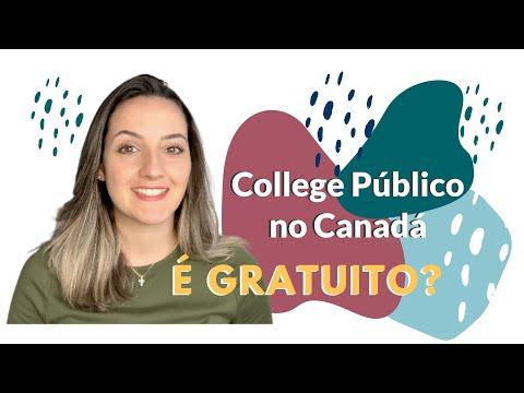 COLLEGE PÚBLICO NO CANADÁ É GRATUITO?