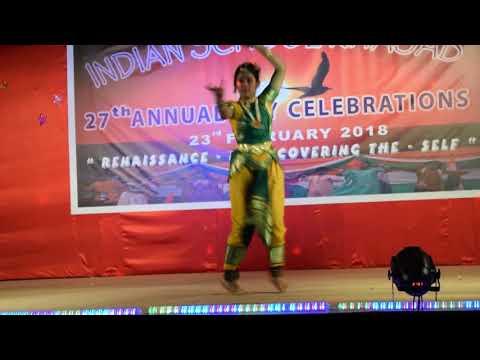 Amazing  Semi classical dance  by Student of Khasab India School Angha shimmy