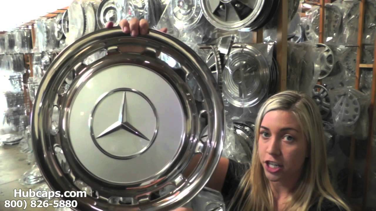 Automotive videos mercedes classic hub caps center caps for Mercedes benz hats sale