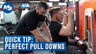 Quick Tip How to Perfect Your Lat Pull Downs