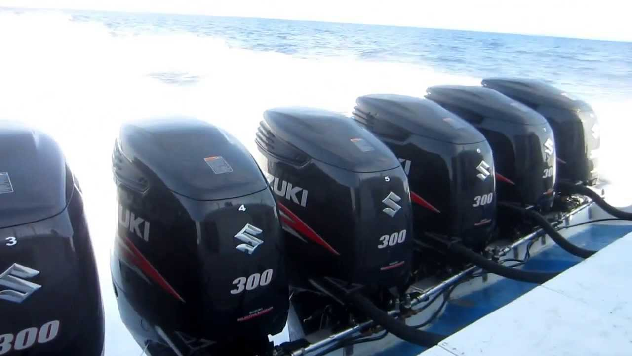 8 x 300 hp suzuki outboard from gili to bali whit 60 foot