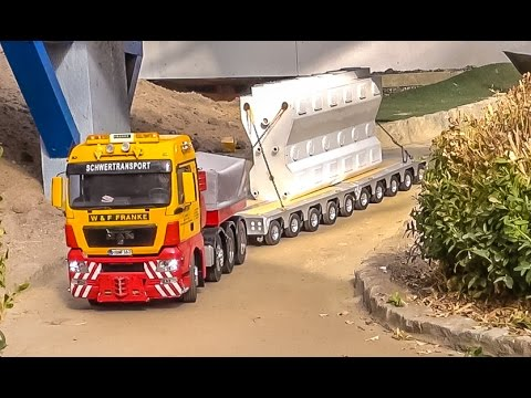 RC truck heavy load! Stunning R/C transport at RC Glashaus!