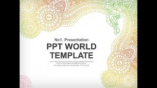 스케치 그라데이션 PPT 템플릿 전통문양의 패턴(자동완…