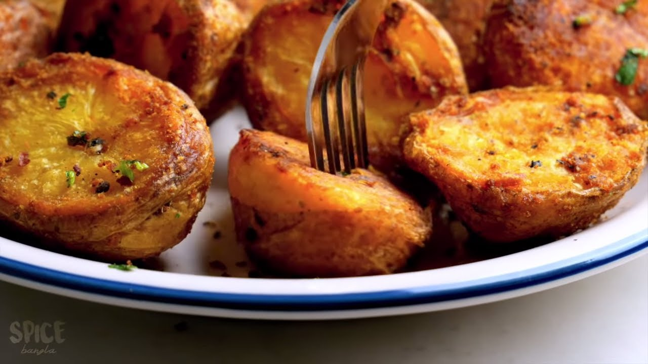 Perfectly Roasted Potatoes At Home With Without Oven Youtube