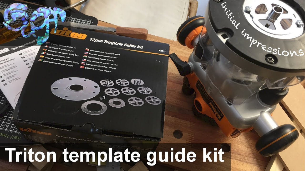 Triton Router 12pce Template Guide Kit Initial Impressions
