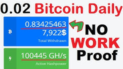 LEGIT & FAST 😱 FREE BITCOIN MINING WEBSITE + Mine Daily 0.02550000 Bitcoin Daily !!!! Payment PROOF