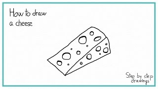 How to draw cheese for How to draw cheese step by step
