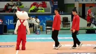 171105 배구 한국전력 vs 우리카드, 빛돌이와 학생들