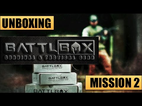 Unboxing Battlbox -- Mission 2 | Survival, EDC & Tactical Gear Monthly Subscription