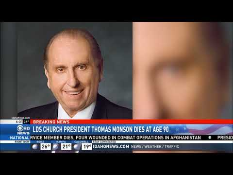 LDS President Monson Dies at Age 90