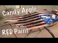 Painting the Tattered American Flags - Candy Apple Red Paint Job
