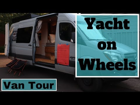 VanLife Tour: Seriously a Land Yacht, 1000w Solar, Radiant Heat, Recirculating Hot Water