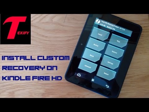 Install Custom Recovery (TWRP) On Kindle Fire HD 7 (2012) 7.5.1 (EASY!)