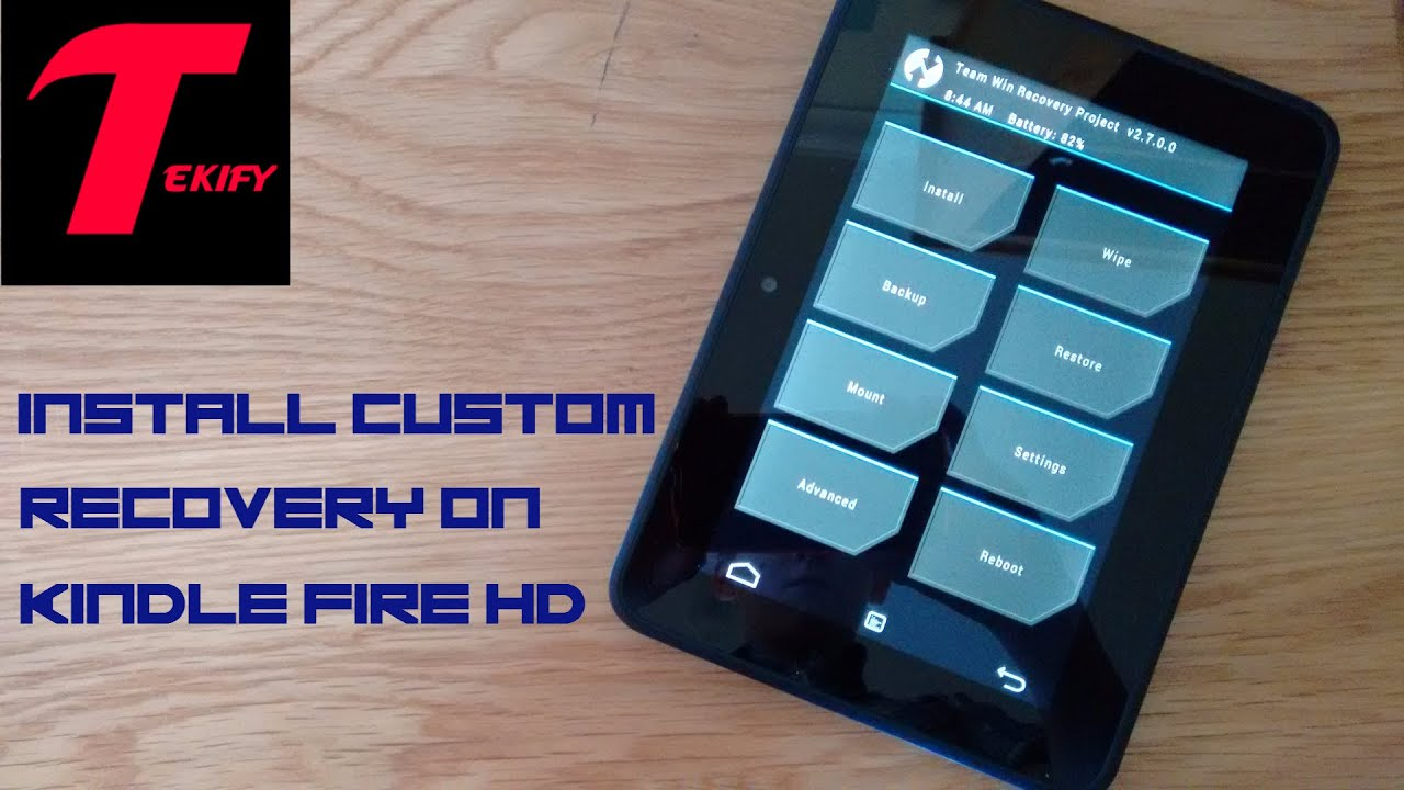 Install Custom Recovery (TWRP) On Kindle Fire HD 7 (2012) 7 5 1 (EASY!)