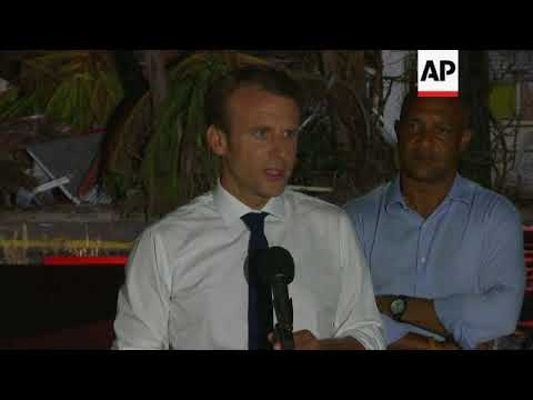 French president comments after St Martin tour