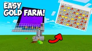 "Minecraft Bedrock - How To Make A EASY Gold / XP Farm! ""PS4, XBOX, MCPE, SWITCH, PC"""