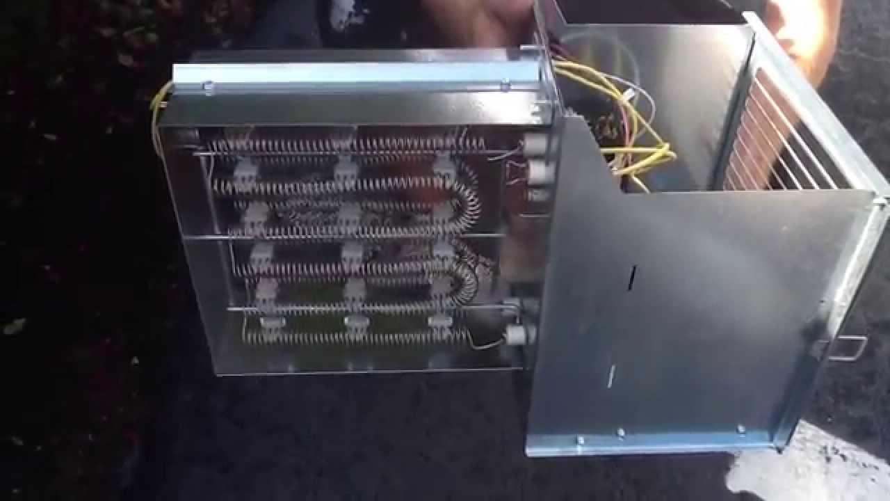 Installing Trane Heat Strip  YouTube