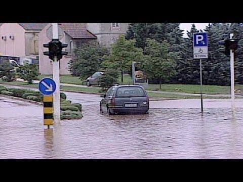 Croatia: coastal cities awash after torrential rain, September 20, 2014 - euronews (in English)  - U5_SpCjuUeY -
