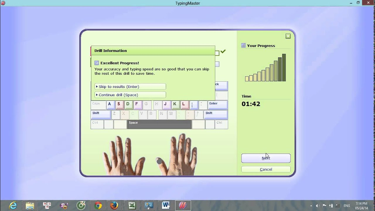 Tập gõ 10 ngón bằng phần mềm đánh máy TypingMaster Pro