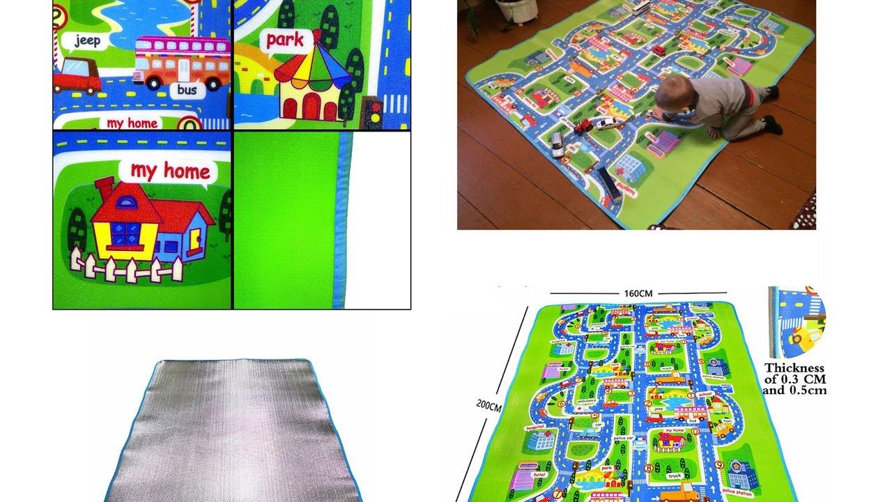Ikea ковер детский с дорогами Икеа развивающий коврик - YouTube