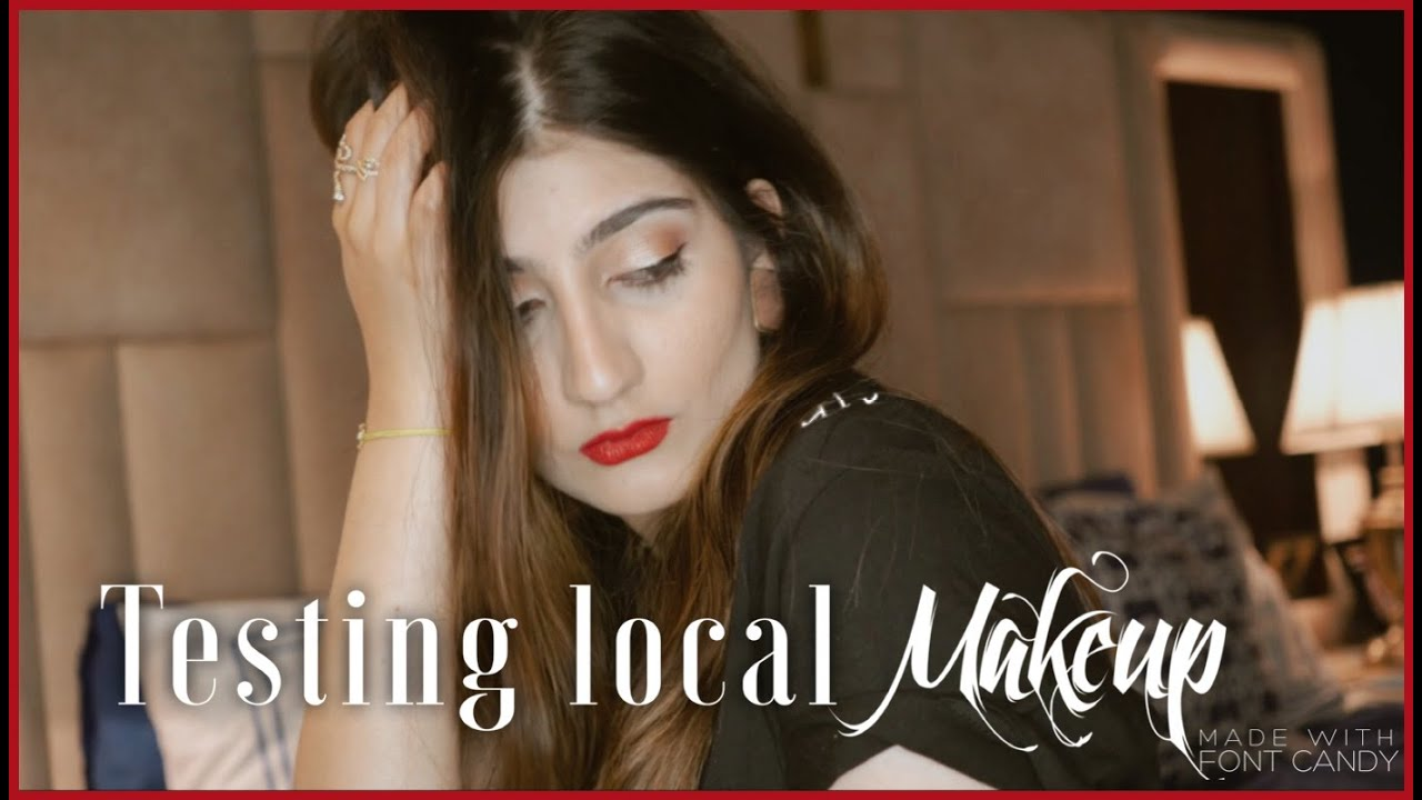 TESTING locally available makeup! | Anushae Says