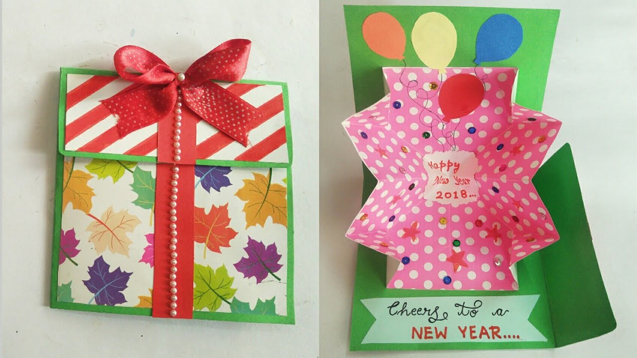 DIY New Year Gift Explosion Card/ Handmade Pop up Card for ...