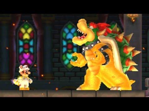 New Super Mario Bros 2 - All Castle Bosses with White Tanooki Mario