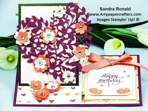 Gorgeous Easel Stand Card - SandraR Stampin' Up! Demonstrator Independent