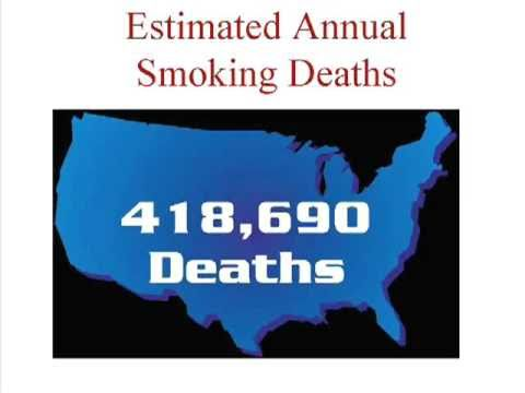 Premature deaths caused by smoking